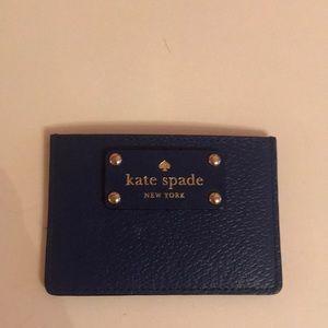 Kate spade cobalt blue card holder